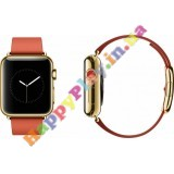 Apple Watch 38mm 18-Karat Yellow Gold Case with Bright Red Modern Buckle (MJ3G2LL/A)