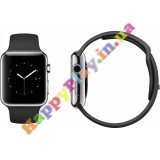 Apple Watch 38mm Stainless Steel Case with Black Sport Band (MJ2Y2LL/A)