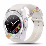 Умные часы Smart watch V8 спорт классик white